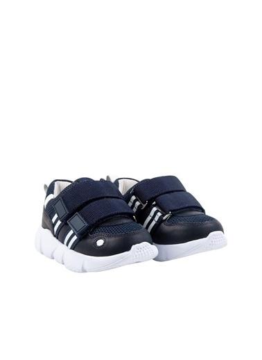 Kids A More Leona Çift Cırtlı Deri Ve Air File Detaylı Erkek Çocuk Sneaker  Lacivert